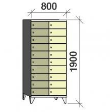 Lokerokaappi 20:lla ovella 1900x800x545