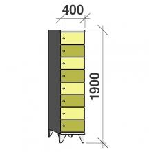 Lokerokaappi 8:lla ovella 1900x400x545