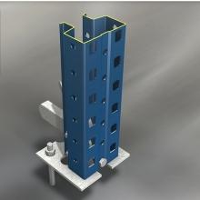 Trukkihyllyn pylväselementti 3000x1050 mm Standard