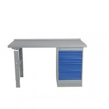 Työpöytä 1600x800 5-osaisella laatikostolla, vinyylipinnoite