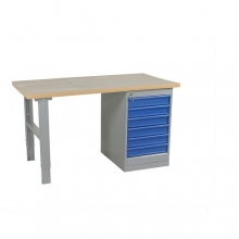 Työpöytä 2000x800 6-osaisella laatikostolla, tammiparketti