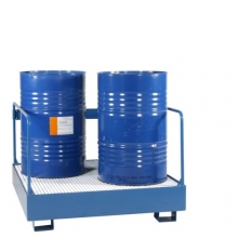 4 drums standing with safety railing 1250x1200x910