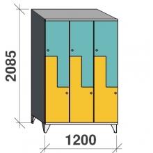 Z-kaappi 6:lla ovella 2085x1200x545 viistokatolla