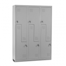 Z-locker, 6-doors 1820x1200x450, RAL7035 Knocked Down