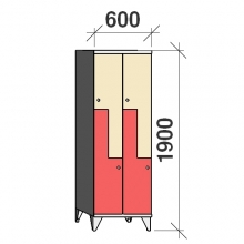 Z-Kaappi 4:lla ovella 1900x600x545 pitkäovinen