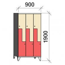 Z-Kaappi 6:lla ovella 1900x900x545 pitkäovinen