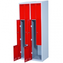 Z-Kaappi 4:lla ovella  1920x800x550  punainen/harmaa