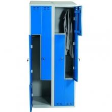 Z-Kaappi 4:lla ovella 1920x800x550 sininen/harmaa