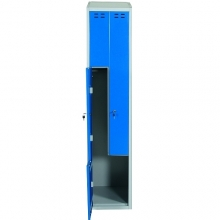 Clothing cabinet, blue/grey 2 d/Z-model 1920x400x550